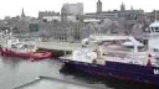 preview picture of video 'Aberdeen Harbour and City from Hjaltland'