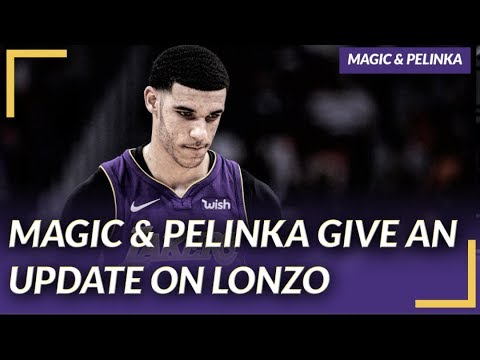 9674423fe3a Lakers Press Conference  Magic   Pelinka Give an Update On Lonzo s Health