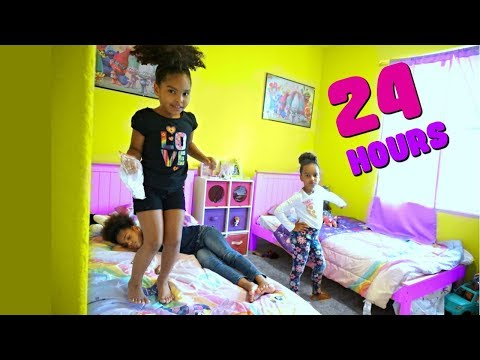 24 HOURS OVERNIGHT in my LITTLE SISTER'S ROOM!!!!