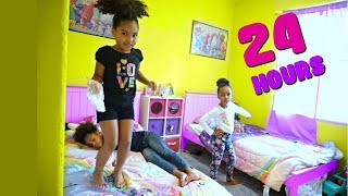 24 HOURS OVERNIGHT in my LITTLE SISTER'S ROOM!!!! - Video Youtube