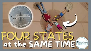 Standing in Four States at the Same Time - Four Corners National Monument