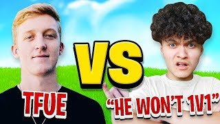 Tfue Challenged by FaZe Jarvis to 1v1 on Fortnite