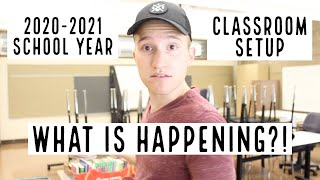 CLASSROOM SETUP DAY 1 (2020-2021) | 3rd Grade Teacher Vlog