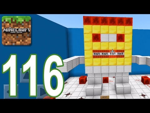 Minecraft: PE – Gameplay Walkthrough Part 116 – Find The Button: Futuristic Edition (iOS, Android)