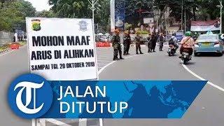 Jelang Pelantikan Presiden, Jalan di Belakang Gedung DPR/MPR Ditutup