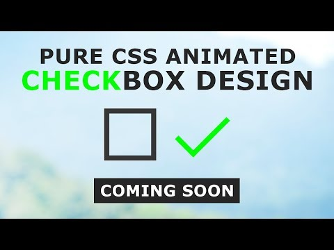 CSS TRANSFORMICONS - Pure CSS Animated Checkbox Design - Coming Soon