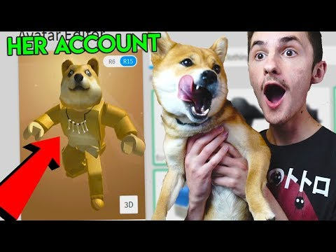 MAKING MY DOG A ROBLOX ACCOUNT! *DOGE!*