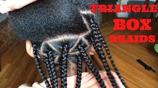HOW TO: Triangle Box Braids (KIDS)