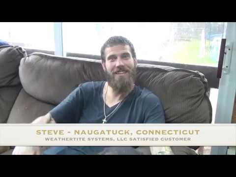 Steve from Naugatuck, CT shared some nice words and feelings about Weathertite! His service was appreciated!Thank you for watching!!