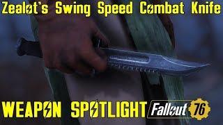 Fallout 76: Weapon Spotlights: Zealot's Swing Speed Combat Knife