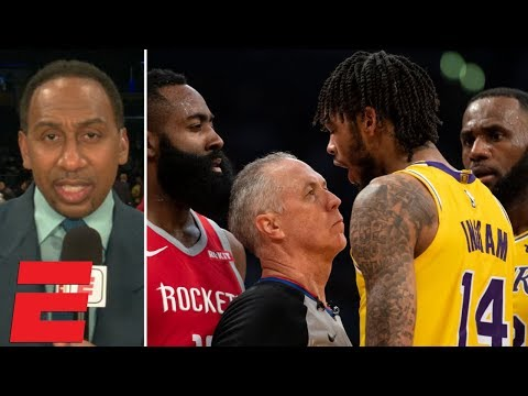 Stephen A. reacts to Lakers vs. Rockets fight during LeBron's Staples Center debut   SportsCenter