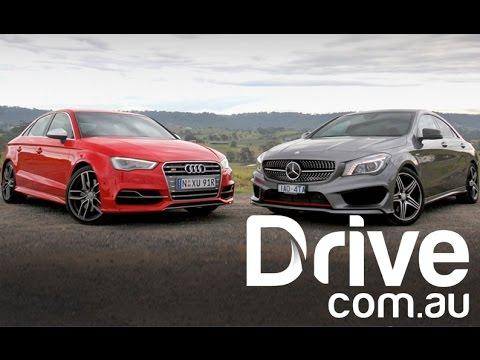 Audi S3 sedan v Mercedes-Benz CLA250 Sport | Drive.com.au