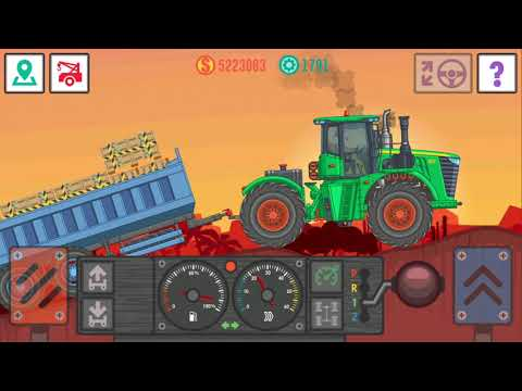 THE GAME BEST TRUCKER LITE IS TRANSPORTING PLASTIC TO A TOY FACTORY ON A NEW TRACTOR
