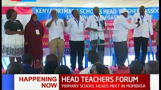 Head Teachers conference being held in Mombasa