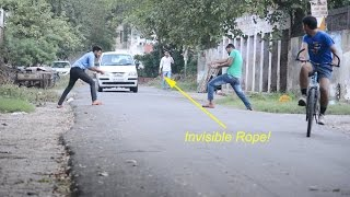 Funny Pranks - Invisible Rope Prank | Prashant Sharma