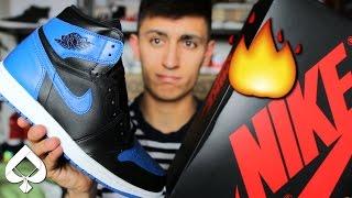 cf34fc944b2801 ... order air jordan 1 royal unboxing on feet grail sneaker pickup 1291c  53db7