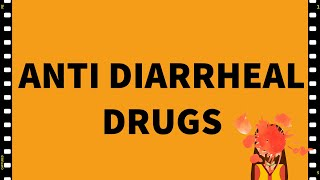 Pharmacology- Diarrhea- Anti Diarrheal drugs-GIT- MADE EASY!