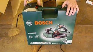 Unboxing Bosch PHO 3100 - E-Hobel für den Designer Tisch