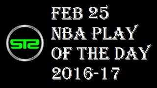 February 25, 2017 - NBA Play of The Day - Today Picks Against The Spread ATS - 2/25/17