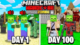 We Survived 100 Days as ZOMBIES in Minecraft... Here's What Happened...