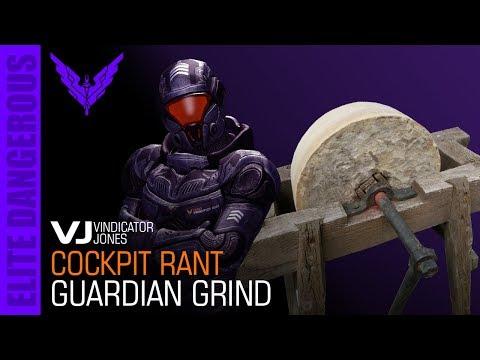 Elite Dangerous - The Guardian Grind - Cockpit Rant Vindicator Jones