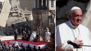 video: Pope Francis leads prayers in shadow of Iraqi churches destroyed by Islamic State