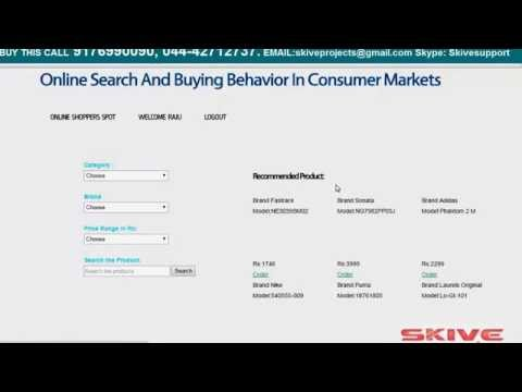 Online Search and Buying Behaviour in Consumer Markets