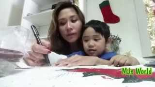 Writing Christmas Cards with a 3 year old