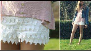 DIY Lace Shorts! (No Sew!)