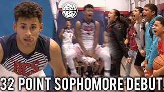 Julian Newman HYPE 32 Point 8 THREES Sophomore DEBUT! CROWD STORMS THE COURT MID GAME!!!