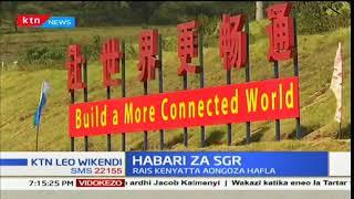 Rais Uhuru Kenyatta akagua ujenzi wa reli a SGR katika kaunti ya Kajiado