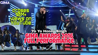Gambar cover Yo Yo Honey Singh Gima awards 2016 | Full Performance | Raat Jashan Di | BrownRang |Dheere Dheere se