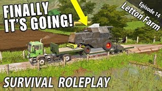 IT'S GOING! | Survival Roleplay | Farming Simulator 17 - Letton Farm - Ep 14
