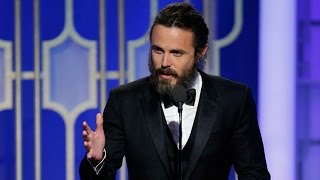 Casey Affleck Wins Best Actor In A Drama For Manchester By The Sea At 2017 Golden Globes