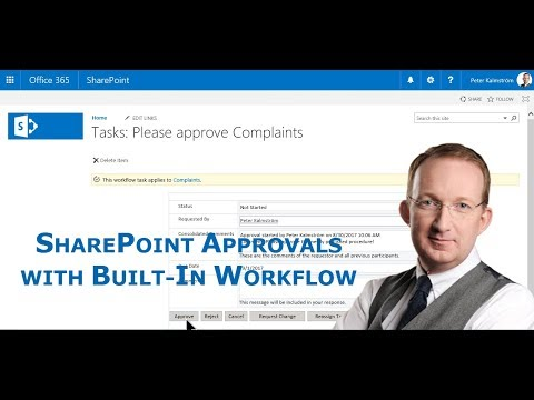 SharePoint Approvals with built-in workflow - YouTube