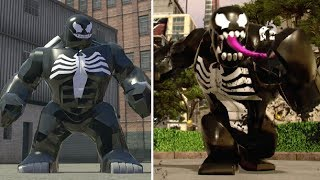 Evolution of Venom in LEGO Marvel Games