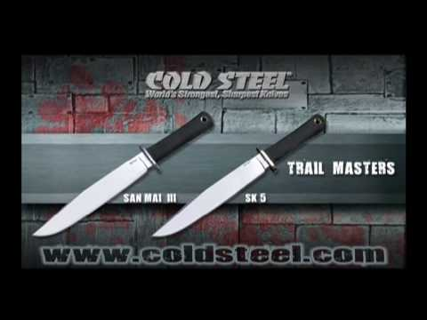 "Cold Steel Trail Master Fixed Blade Knife (9.5"" San Mai III) 16JSM"