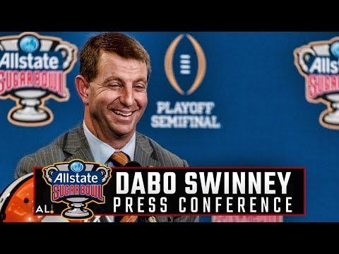 Hear what Clemson head coach Dabo Swinney had to say on the eve of the Sugar Bowl vs Alabama