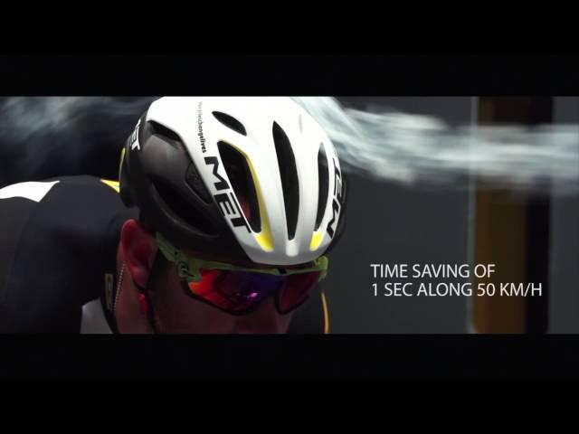 Видео Шлем MET Rivale Black/Shaded Safety Yellow (матовый/глянцевый)