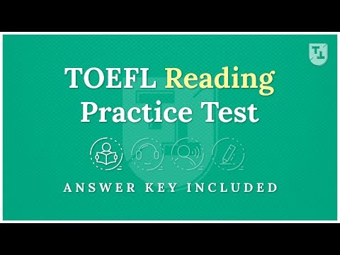 TOEFL Practice Test - The Reading Section - YouTube