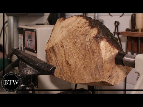 Harvesting a log and woodturning into a lamp [9:48]
