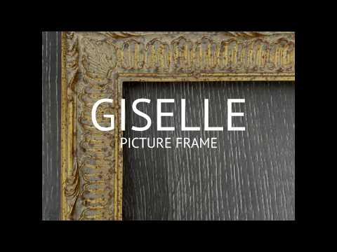 Giselle Ornate Embossed Pattern Wood Picture Frame Antique Gold - West Frames