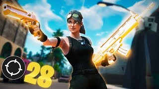 Solid Gold Is Back! 28 KILL SOLO SQUADS WIN (Fortnite Battle Royale)