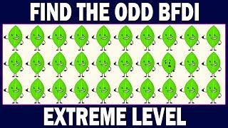 BFDI Odd One Out Puzzles   Battle For Dream Island Games   Find The Odd BFDI ? Spot The Odd Object