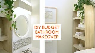 DIY small bathroom remodel: budget bathroom ideas