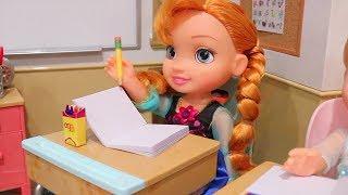 Frozen Anna & Elsa Criança Não Gostam do Novo Líder de Classe Boss Baby -Brinquedonovelinhas
