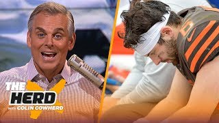 Colin reacts to Browns' Week 1 drubbing & Antonio Brown signing with Patriots | NFL | THE HERD