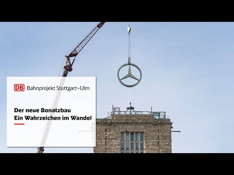 Der Mercedes-Stern vom Bahnhofsturm –...