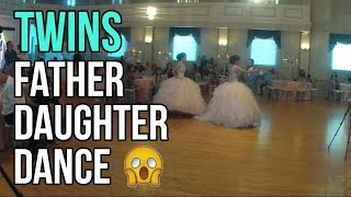 How Do Twin Sisters Dance The Father Daughter Dance? See Until End