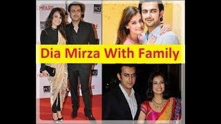 Bollywood Actress Dia Mirza With Family